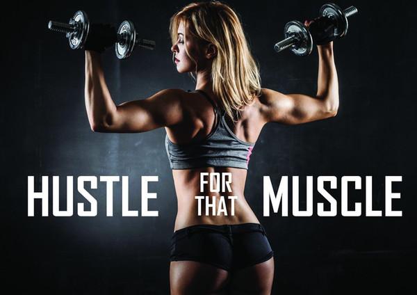 Compre Gym Fitness Bodybuilding Weight Entrenamiento Cita Motivacional Arte Póster En Seda De Impresión 24x36 Pulgadas 60x90cm 012 A 10 93 Del