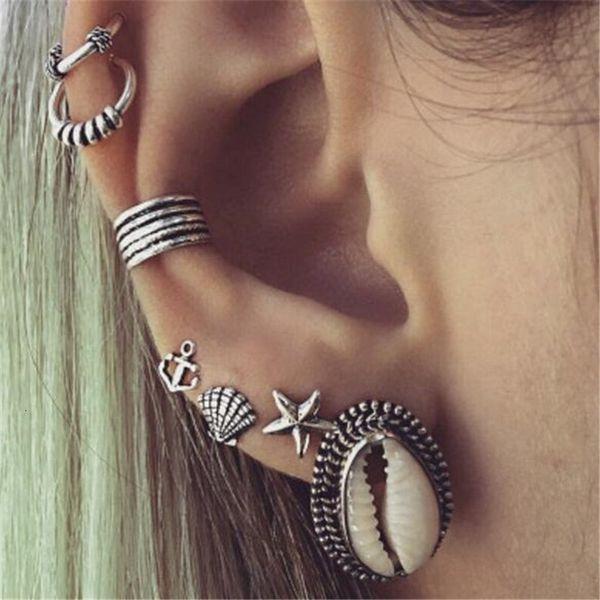 Posimi Second Shell Starfish Anchor Earrings Suit Earring Seven Paper Set Earrings pearl earrings, piercing,Pandora charms,summer sundress women,shell jewelry,abalone shell jewelry,sea shell jewelry,shell jewelry set,shell jewelry diy,cowrie shell jewelry,conch shell jewelry,women shell jewelry sets