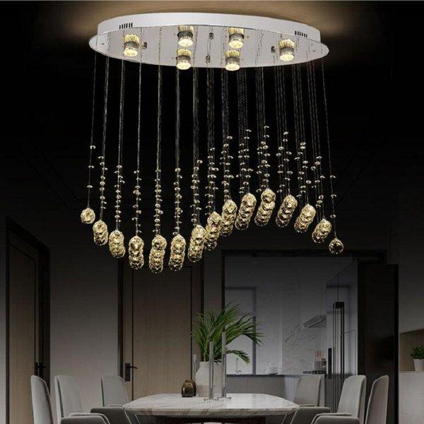 Modern Crystal Raindrop Chandelier Lighting Fixtures Cystal Lustres De  Cristal Home Living Room Bedroom Dining Room Chandeliers Wood Chandelier ...