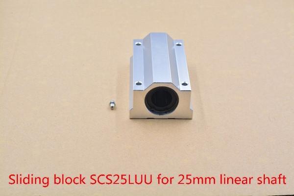 SC25LUU SCS25LUU 25mm linear bearing slide block for 25mm rod round shaft XYZ Table CNC 1pcs