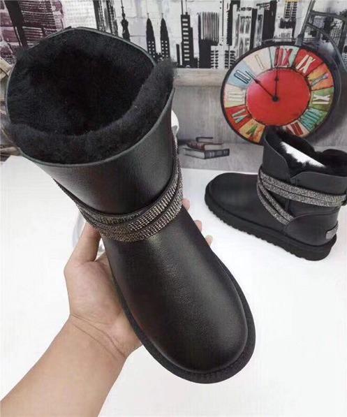 Novo Inverno Neve mulheres Botas de couro Da Marca de Design Tornozelo Botas Botas Sapatos Elásticos frete grátis Mulher Sólidos Apartamentos De Borracha À Prova D 'Água