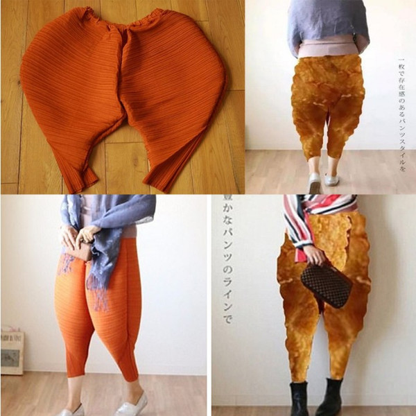 Autumn Hot Europe Style New Fried Chicken Pants Casual Loose Harem Women Light Weight Polyster Capris Pants S-4XL size