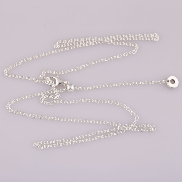Authentic 925 Sterling Silver Necklace for Women 50cm Chain with Signature Pendant fit Lady Jewelry