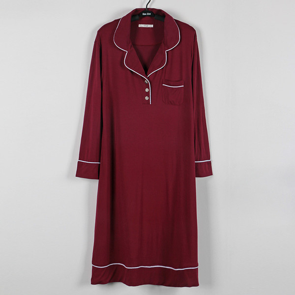 Wine red nightwear