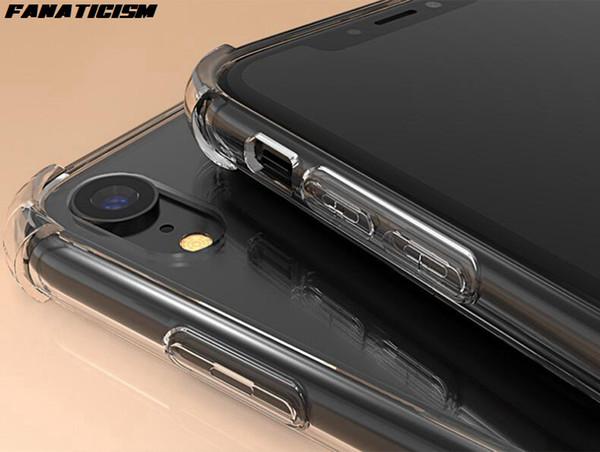 Падение сопротивления Прозрачный Hybrid TPU силиконовый бампер Жесткий ПК телефон чехол для iPhone 11 Pro 11Pro Xs Max XR 6 7 8 плюс