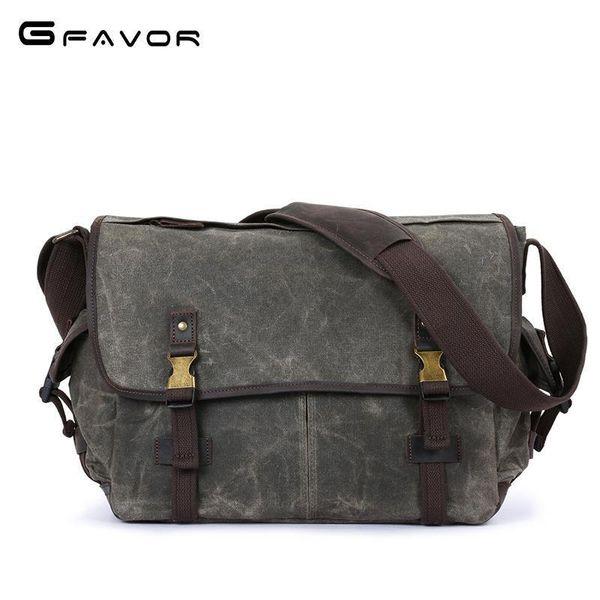 Vintage Canvas Crossbody Bag Men Travel Messenger Shoulder Bags Fashion Large Capacity Male Designer Brand Waterproof Laptop Bag