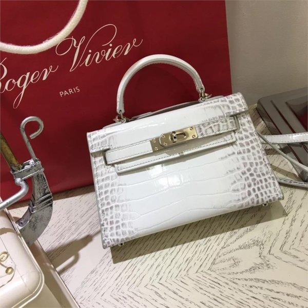 2019 new bag Palm print bag fashion trend pattern buckle square shoulder bag across wild ladies handbag crossbody
