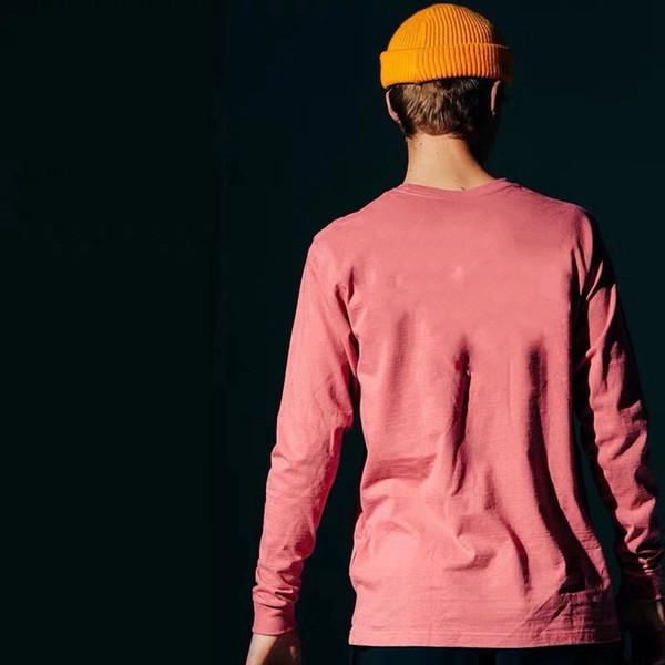 Мужских 19SS Tshirts осени весна гор Печатная Мода Топы с длинными рукавами
