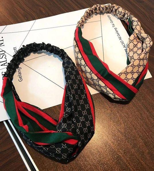 Hot Sale Designer Headband Wild Brand Elastic Hair Bands Fashion Cross Headband Exquisite Women Headband Silk Hair Luxury Jewelry