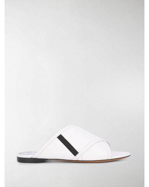 2019ss bayan 4g beyaz deri Rivington geçit düz terlik moda rahat-luxe slayt sandalet boyutu euro 35-41