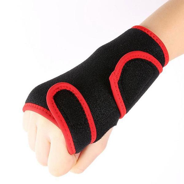 New Bandage Orthopedic Hand Brace Wrist Support Finger Splint Carpal Tunnel Syndrome Black + Red #8