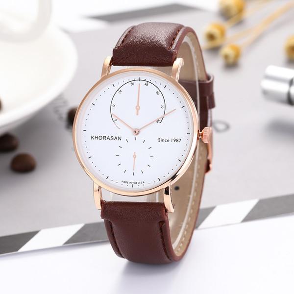 2b8bb6e6949 Homens Relógios De Luxo de Moda PU Pulseira de Couro Relógio De Quartzo dos  homens Analógico