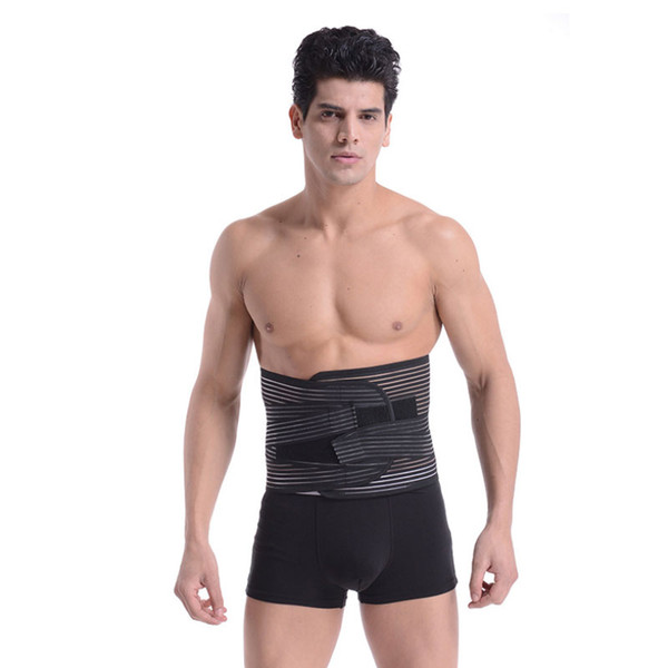 Sports Fitness Waist Support Slimming Belly Shaper Sweating Waist Band Elastic Pressure Bandage Adjustable Belt Training For Men