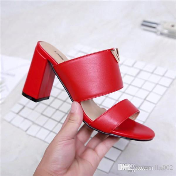 top popular new women designer luxury sandal casual shoes slippers spring summer leather fashion 7339044 2191 high heel size 35-40 with box 2020