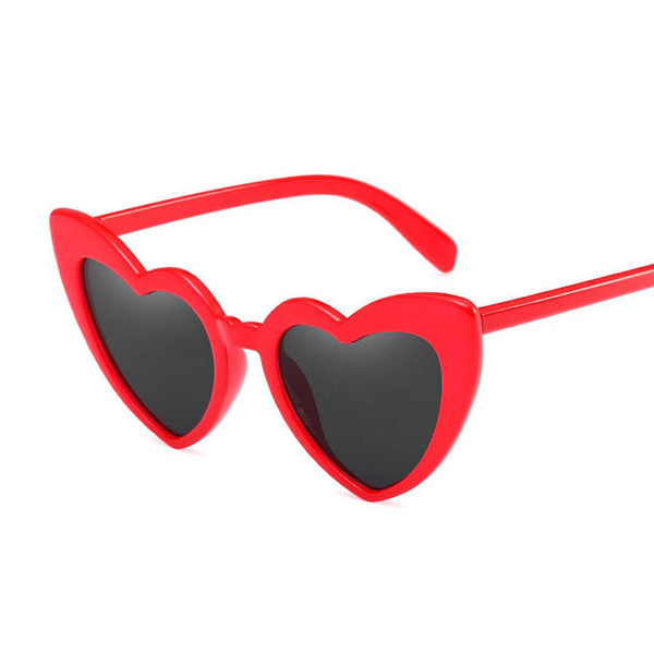 Brand Designer Vintage Sunglasses Fashion Love Heart Sunglasses Women cute sexy retro Cat Eye Vintage Sunglasses red female