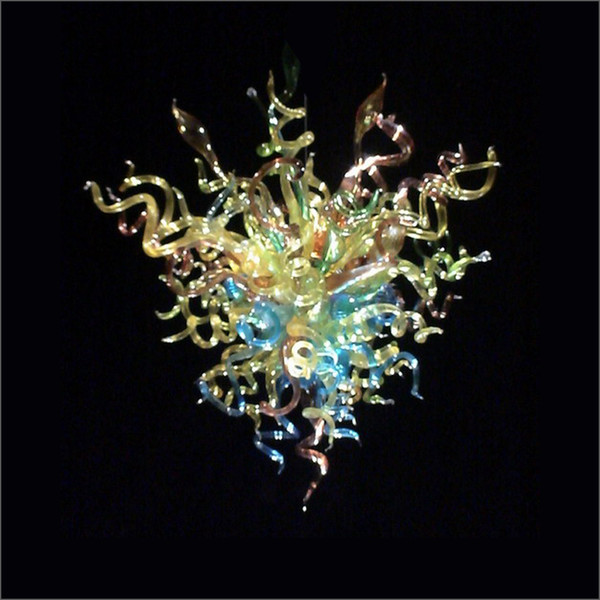 Wedding Centerpieces Multi Color Mouth Blown Borosilicate Pendant Lamps Hand Blown Glass Chandelier for Hotel Home Art Decoration