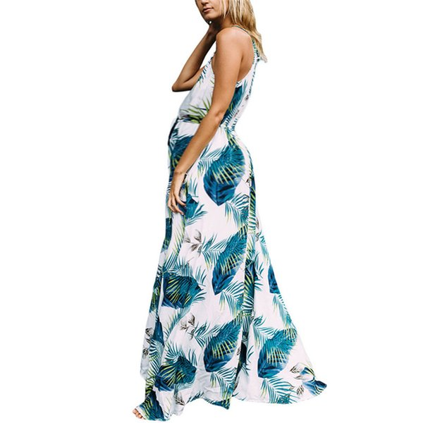 Explosion models summer new print strap sexy beach pregnant women dress female hot sale free shipping Q23