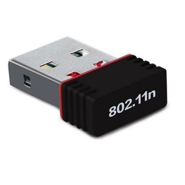 Qualité supérieure!!! Adaptateur USB sans fil Mini 150M Wifi Carte réseau local IEEE 802.11n + pilote de CD avec paquet de vente au détail 25