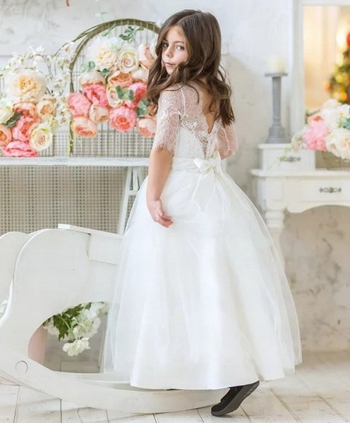 Charming Special Occasion Dress Pincess Pageant Flower Girl Dresses Wedding Party Dress Kids Gown Children Dress DHA18