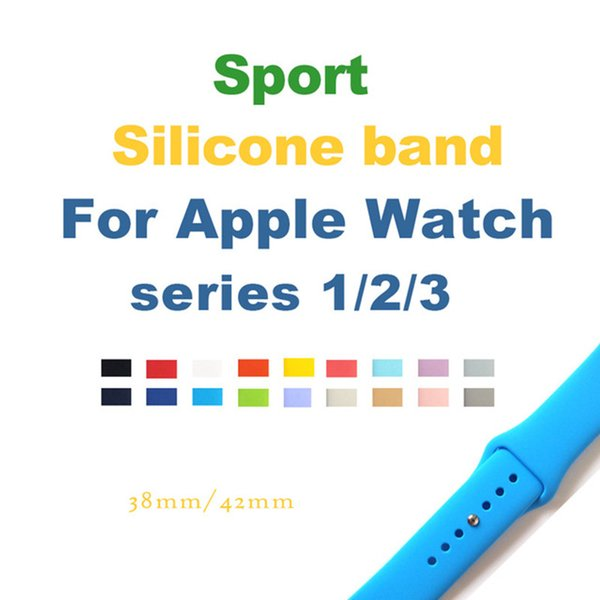 Casual Sports Silicone Strap Applicable to Apple Watch Series 3/2 Replacement Strap Watchband Apple Watch 42mm 38mm