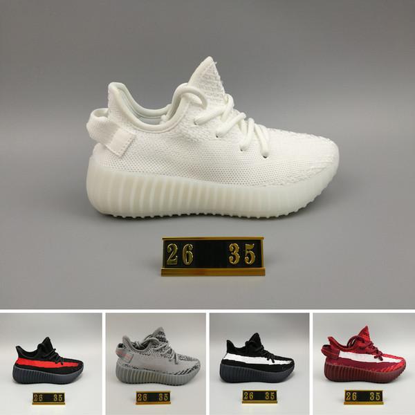 Adidas Yeezy 350 V2 Çocuklar Çocuk Gençlik Krem Tüm Beyaz Statik V2 2.0 Bebek Getirdi Beluga Siyah Kırmızı bebekler Kany West Koşu Ayakkabıları Spor Sneakers