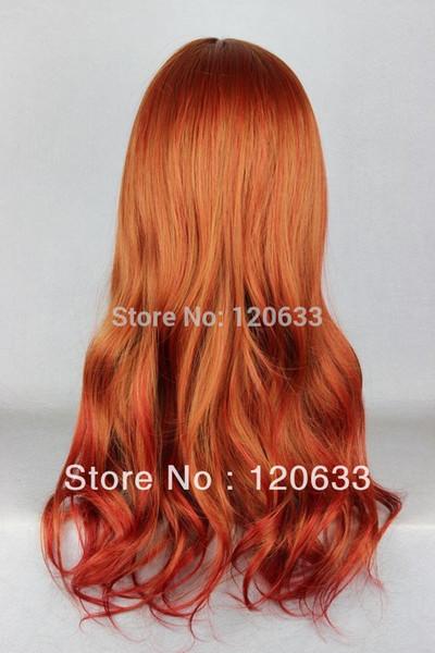 Wholesale Hair Nature Cheap 100% Kanekalon Cheap 65cm Long Color Mixed Beautiful lolita wig Anime Wig virgin pad