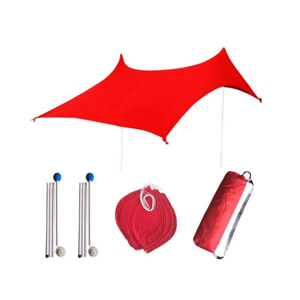Family Beach Sunshade Lightweight Sun Shade Tent with Sandbag Anchors 4 Free Pegs Large Portable Canopy for Parks Outdoor