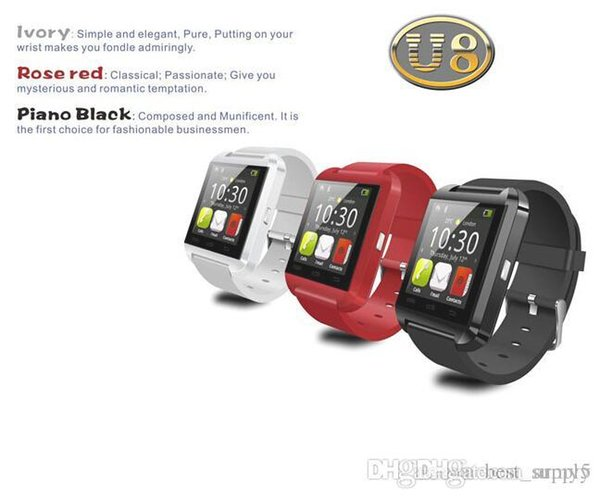 wholesale cheap U8 smartwatch , U8 Bluetooth Smart Watch Phone Mate For Android&IOS Iphone Samsung LG Sony