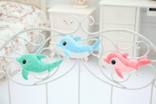 New Arrival 30cm Creative Super Cute Simulation Dolphin Stuffed Doll Pillow Plush Toys Kids Couple Dolls Birthday Gifts Q190521