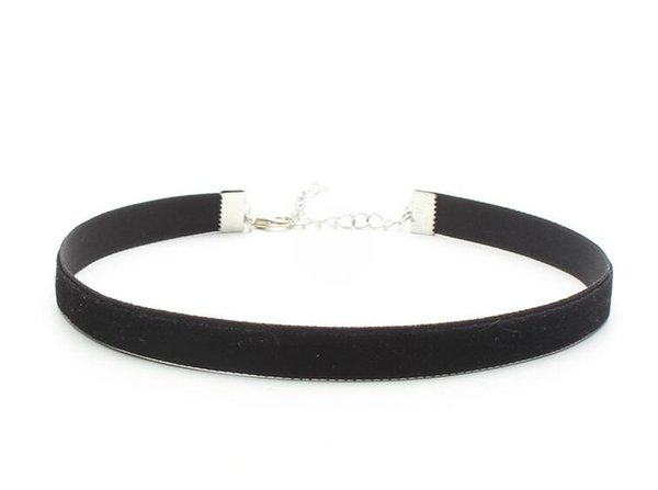 90/'s Black Velvet Choker Necklace Goth Gothic Handmade Retro Burlesque Jewelry