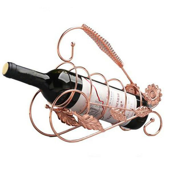 Wine Bottle Holder metallo del basamento della cremagliera della cucina della casa Tabella decorazione di arte