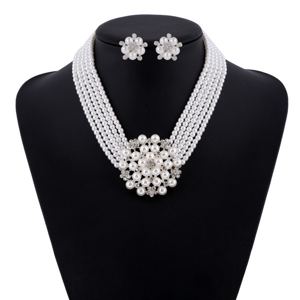 Pearls Wedding Lackneck Wedding Accessories Bridesmaid Jewelry