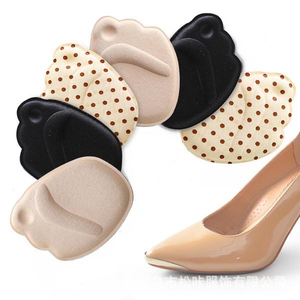 Массаж с силикагелем и полуденная стелька для обуви на высоком каблуке Противоскользящая передняя накладка Противоизносная стопа для ортопедической стельки для обуви Высота