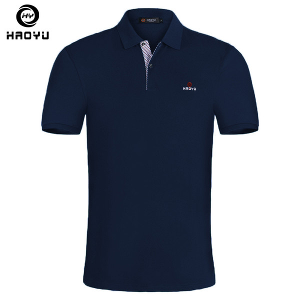 15 Color Mens Shirt Brands Slim Fit Casual Solid Polo Shirts Brand Clothing Short Sleeve Fashion Haoyu Poloshirt Summer Xxl C19041501