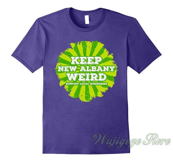 Maglietta New Albany Indiana stampa divertente estate Keep New Albany Weird maglietta uomo donna top tee magliette 100% cotone