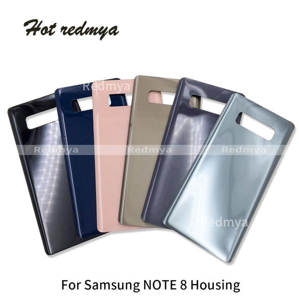 Note 8 Tapa de batería sin lente de cámara para Samsung Galaxy Note 8 Carcasa trasera Cubierta trasera completa Puerta Caja trasera Partes de repuesto