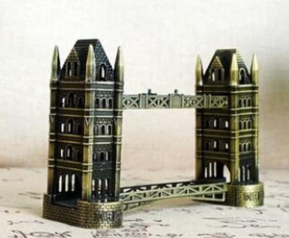 crafts London tower bridge model metal crafts gift office gift tower bridge alloy large room world famous