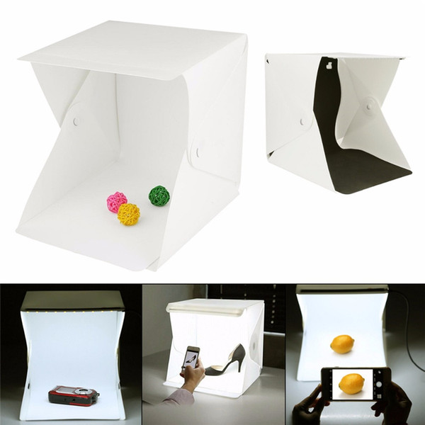 top popular Portable Folding Lightbox Photography Table Top Light Including White Black Background USB Cable Power for Photo Background 2021