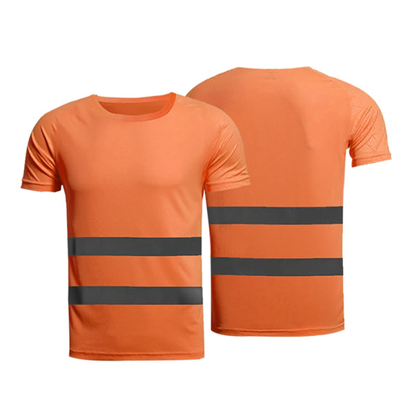 Maglietta riflettente di sicurezza 1pc Manica corta T-shirt ad alta visibilità Tops Corsa sicura Cantiere di fitness Corsa da donna Abbigliamento sportivo da uomo