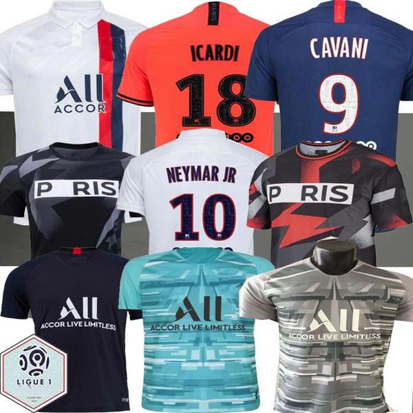Maillots de foot 19 20 PSG Fußball-Trikot 2019 2020 Mbappe Marquinhos Ander Herrera camisetas Fußball NAVAS Icard Shirt Ausbildung PSG X AJ