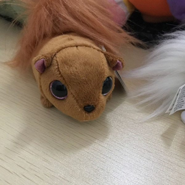 """4"""" 10cm Ty Beanie Boos Big Eyes Small mouse spider rooster Plush Toy Doll Kawaii Stuffed Animals Collection toys for children"""