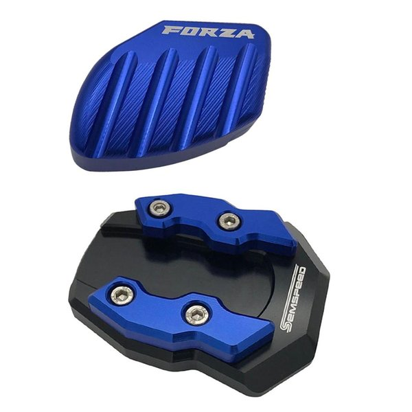 2pcs para Forza300 Forza125 Forza250 MF13 2018 Placa 2019 2020 pata de cabra resto del pie del pie del lado base de extensión almohadillas de apoyo