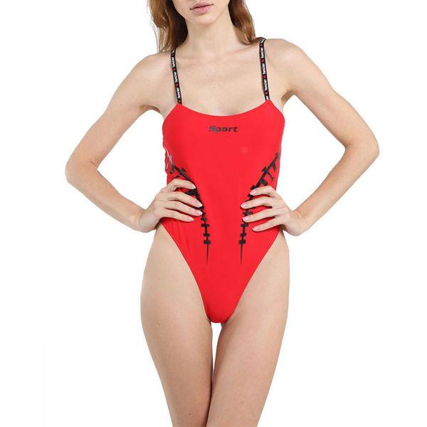 Seksi Mayo Kadın Mayo Tek Parça Bodysuit Push Up Bayanlar Hızlı Kuru Saf Muhafazakar Bağlı Bikini Yüzme Suit