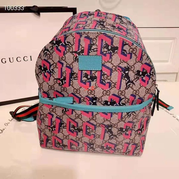패션 아이 배낭 소년 소녀 학교 가방 레드 컬러 오토바이 배낭 디자이너 가방 여성 지갑 남성 디자이너 백팩 새로운 도착