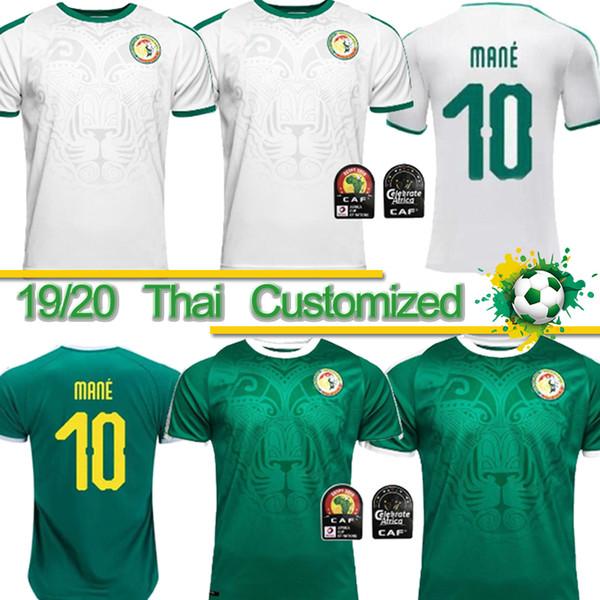 Thai 19 20 Africa Cup Senegal Soccer Jersey Thai qualidade 2018 copa do mundo camisa do futebol do futebol nacional equipe MANE futebol de topo Senegal