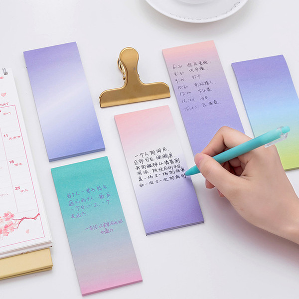 Korean Memo Notes Stationery Creative Sticky Notes Message Note Student Office supplies DHL