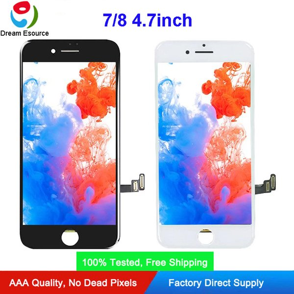 True Tone Program Able AUO LCD Screen iPhone 7G 8G Ultra-thin Frame Sensitive Touch Screen Digitizer Fit for Installation Free DHL shipping