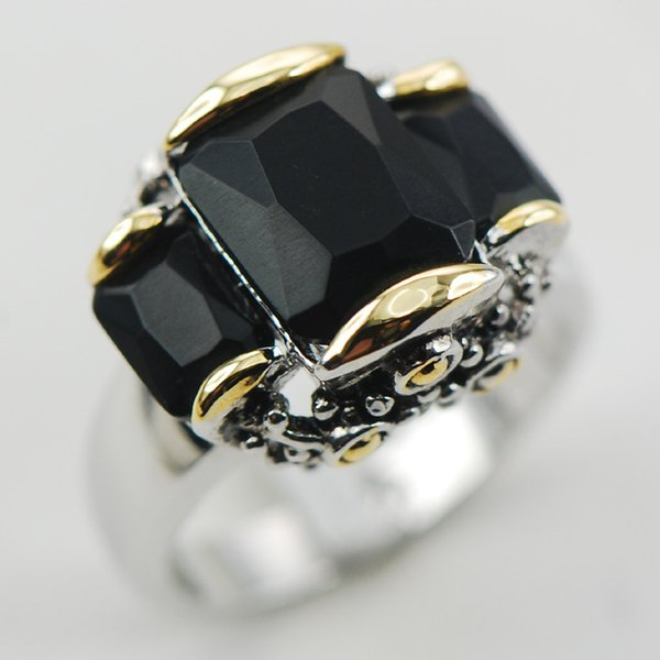 ring butterfly Black Onyx 925 Sterling Silver Ring Size 6 7 8 9 10 F999