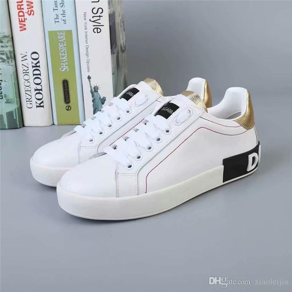 the latest 3a58f fe71f 2019 New Arrive DOLCE & GABBANA D.G HERRENSCHUHE HERREN LEDER SCHUHE  SNEAKERS NEU PORTOFINO Casual Shoes With Box Wedge Shoes Casual Shoes For  Men ...