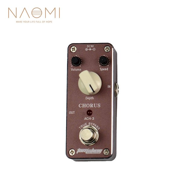 NAOMI Tomsline Pedal Chorus Guitar Effect Pedal Bass Treble Level True Bypass ACH-3 Pedal Guitar Parts Accessories New